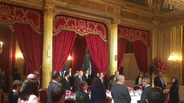 Sir Peter Cosgrove at Elysee Palace following the submarine decision.