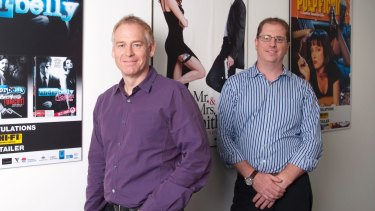 Terry Smart (left) and Richard Murray have swapped places in the chain of command at JB Hi-Fi.