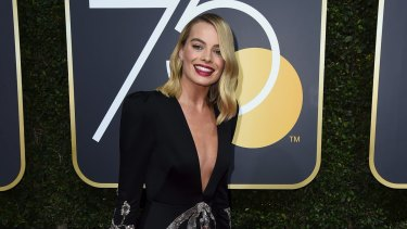 Margot Robbie arrives at the 75th annual Golden Globe Awards at the Beverly Hilton Hotel on Sunday, Jan. 7, 2018, in Beverly Hills, California.