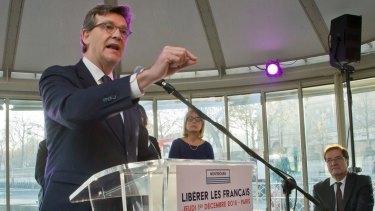 Socialist primary contender Arnaud Montebourg.