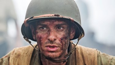Andrew Garfield as conscientious objector Desmond Doss in <i>Hacksaw Ridge</i>.