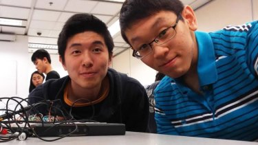 Wei Yang Tai (right) grew up in Queensland, but now studies electrical engineering at HKUST.