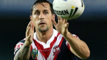 Ready for action: Mitchell Pearce.