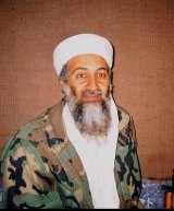 Osama bin Laden during an interview by Pakistani journalist, Hamid Mir, near Kabul in 2001.