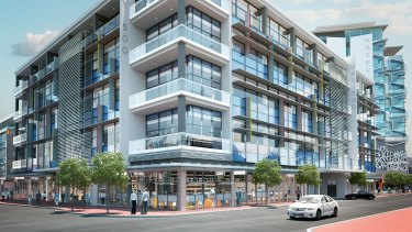The 500 Hay St development has a listed completion date of March 2018.