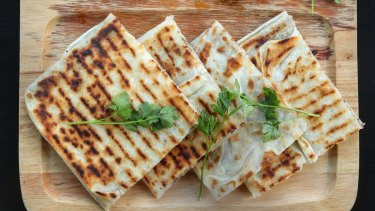 Delicate, crisp gozleme are made to order.