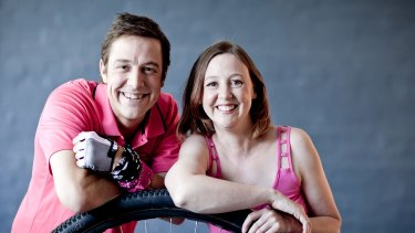 Actor Samuel Johnson with sister  Connie, co-founders of Love Your Sister, which raises money for breast cancer research.