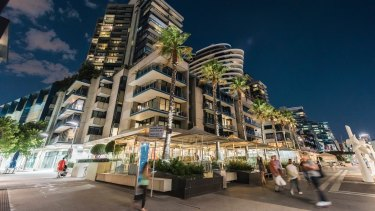 The building at 54 Newquay Promenade in Docklands was one of three to be snapped up by investors.