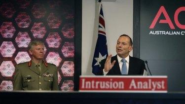Them Prime Minister Tony Abbott opened the Australian Cyber Security Centre last November.