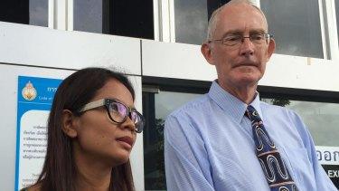 Alan Morison, Australian editor of the website Phuketwan and his colleague Chutima Sidasathian.
