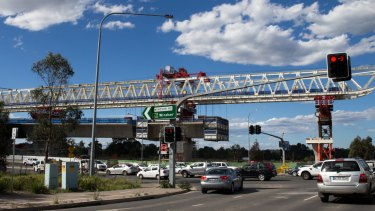 "The so-called ""mini Anzac Bridge"" over Windsor Road is still far from complete."