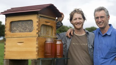 Sweet success: Father and son inventors Cedar (left) and Stuart Anderson are set to crowdfund full production of their innovative hive.