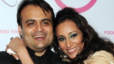 Pankaj Oswal and his wife, Radhika Oswal.