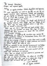 Copy of a letter written on behalf of 65 asylum seekers from Sri Lanka, Bangladesh and Myanmar to Ammesty International.