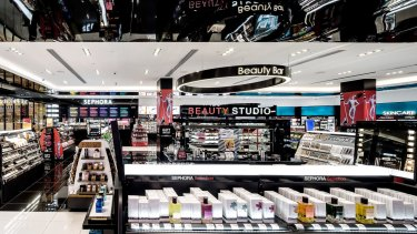 It has been said the opening of Sephora and the expansion of Mecca Maxima have put pressure on the cosmetics sales of Myer and David Jones.