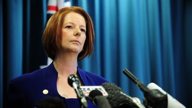 Former prime minister Julia Gillard was more popular than Prime Minister Tony Abbott at the 16-month mark of their first terms.