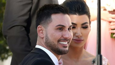 Salim Mehajer and Constance Siaflas at the wedding.