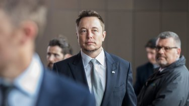 Elon Musk in Adelaide on Friday.