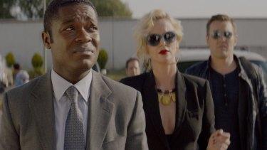 David Oyelowo, Charlize Theron and Joel Edgerton in Gringo.