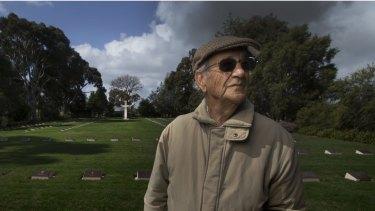 Arthur Knee revisits the German War Cemetery in Tatura.