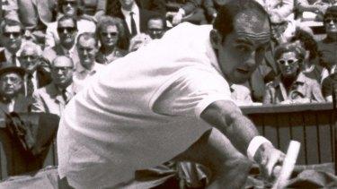 Bob Hewitt competing at Wimbledon in 1965.