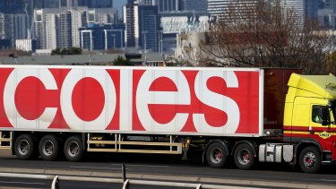 Penalty: Coles accused of heavily fining suppliers for late or short deliveries.