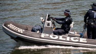 Water police are reportedly searching the Brisbane River.