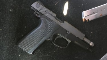 Two firearms were seized by Organised Crime Squad detectives during the arrest at Centennial Park.