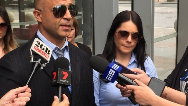 Jessica Silva outside court with her lawyer Adam Houda after her manslaughter conviction was quashed.