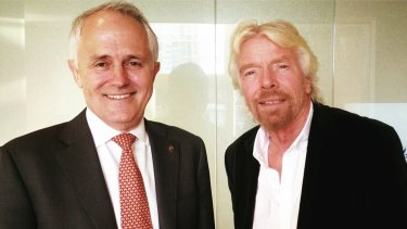 Malcolm Turnbull with Virgin founder Richard Branson.