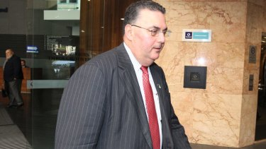 Councillor Artin Etmekdjian, pictured in 2013, was sentenced in the Sydney Downing Centre Local Court on Tuesday for dishonestly attempting to influence a Commonwealth official.