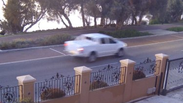 CCTV footage of the Toyota HiLux police were searching for.