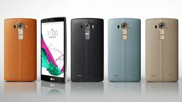 If leather's your thing the G4 comes with a black or tan case, with other coloured cases to be sold separately.