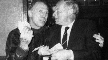 The real Neddy Smith with Roger Rogerson.