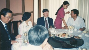 Joel Fitzgibbon on a 1983 trip to China with his father and Helen Liu.