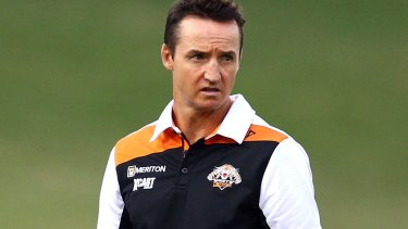 Doing things his way: Wests Tigers coach Jason Taylor.