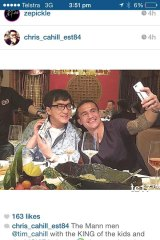 Famous friends: Cahill with Jackie Chan.