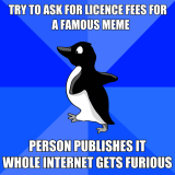 getDigital's own, illustrated version of the Socially Awkward Penguin meme.