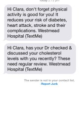 Text messages for Global Health's TEXT ME heart attack trial.