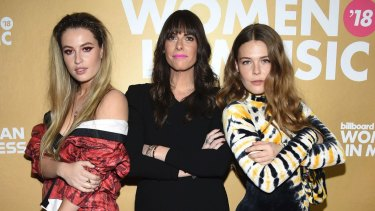 From left, Fletcher, Michelle Jubelirer and Maggie Rogers attend the Billboard Women in Music event in New York in December.