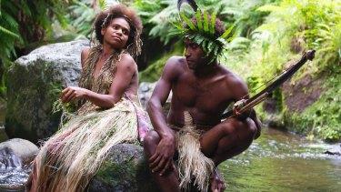 Marie Wawa (left) and Mungau Dain in <i>Tanna</i>.