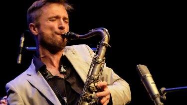 Saxophonist Mike Rivett, winner of the 2016 National Jazz Award.