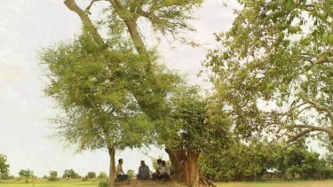 Bunhom Chhorn and his childhood friend sit under the tamarind tree in Camp 32 talking about what they saw there 40 years ago.
