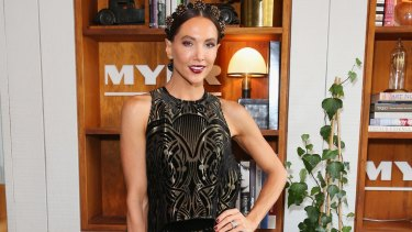 Lunching with the ladies: Kyly Clarke at the Myer autumn racing collection launch at the Centennial Hotel.