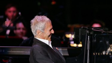 Burt Bacharach performing with the Sydney Symphony orchestra.