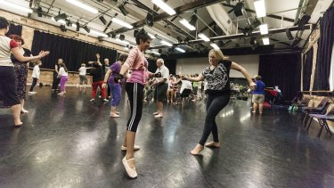 The dancing program is hoped to help prevent people with Parkinson's disease falling while walking.