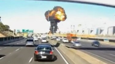 Footage from a motorist's dash cam captured the Essendon crash. Hundreds of people would have seen the crash.