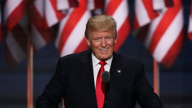 Republican presidential candidate Donald Trump insists his comments were a call for political, not physical, action.
