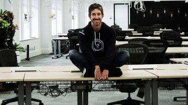 Atlassian co-founder Scott Farquhar at the company's Sydney offices.