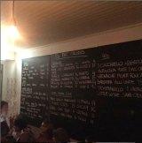 The wine list at 10 William Street.